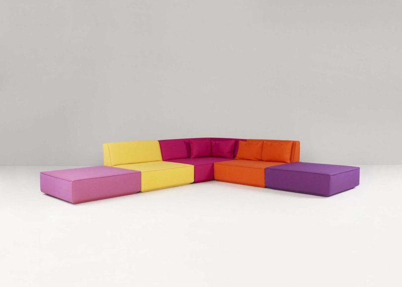 Grand canapé modulable d'angle