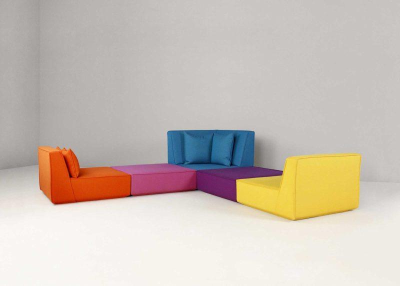 Canapé modulable avec une configuration originale