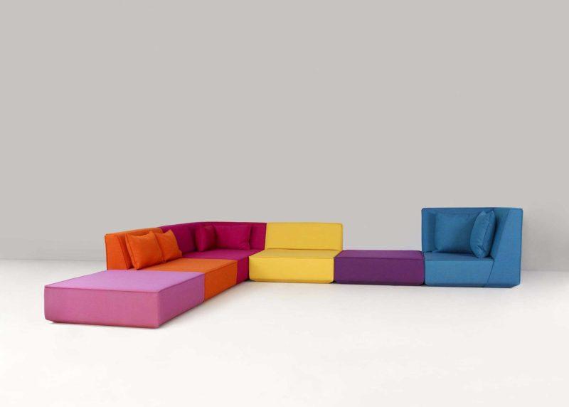 Très grand canapé modulable d'angle