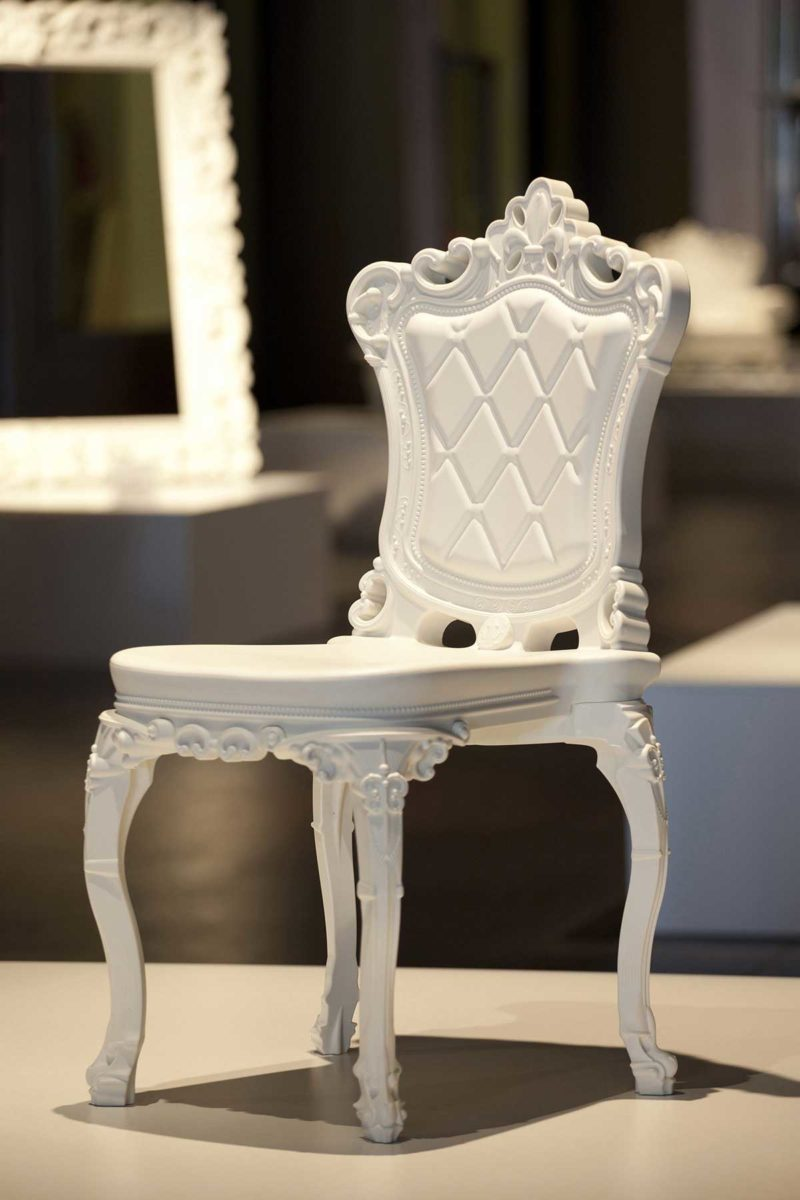 Chaise blanche baroque