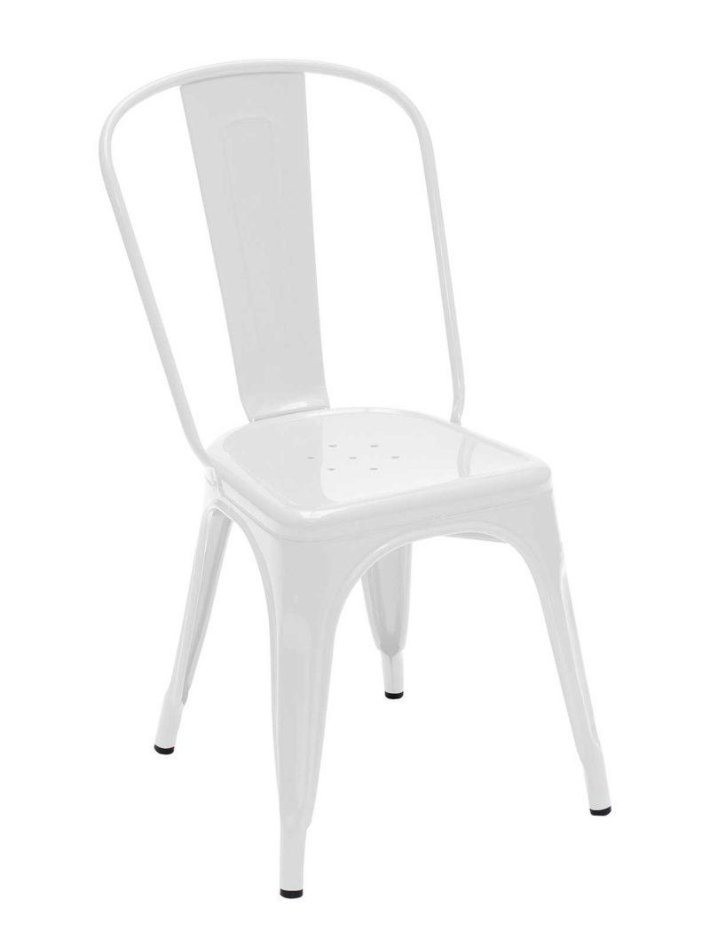 Chaise blanche industrielle