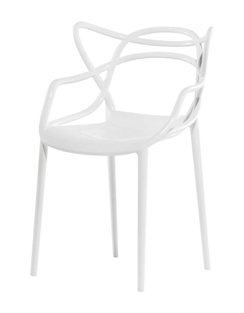 Chaise blanche moderne
