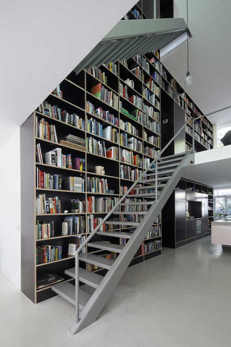 Grande bibliothèque sur-mesure
