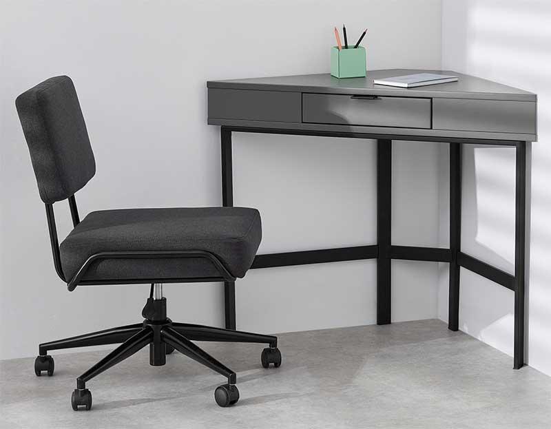 Bureau pour angle gris et noir