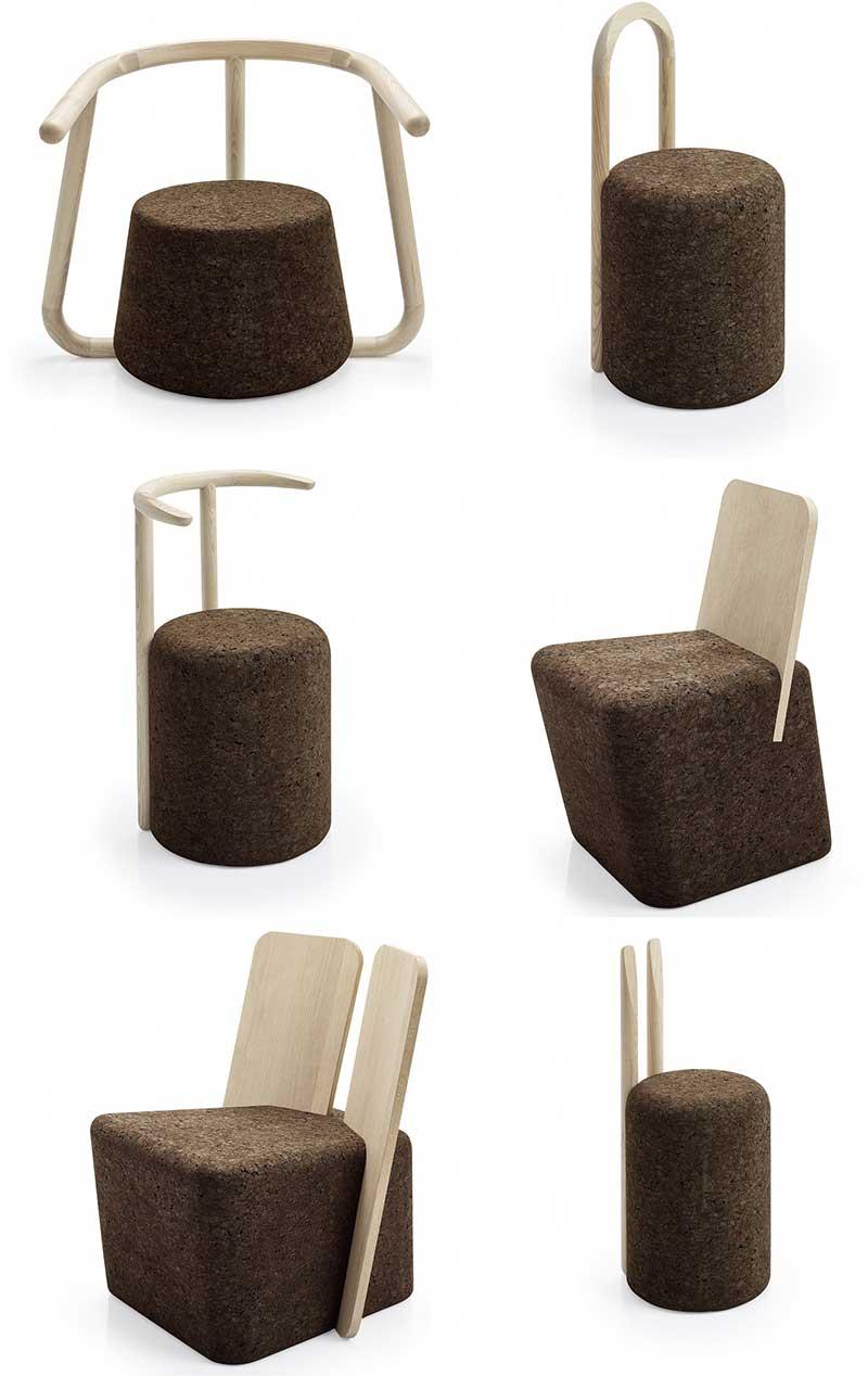 Chaise originale en liège
