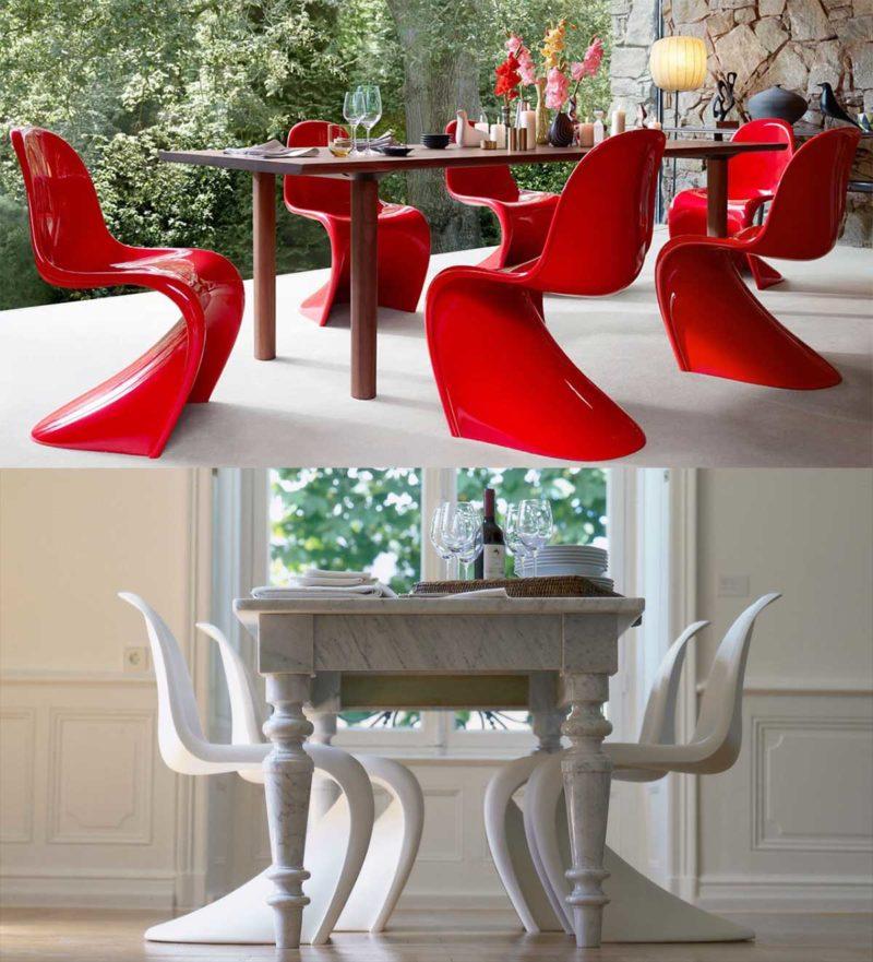 Chaise Panton et son design original