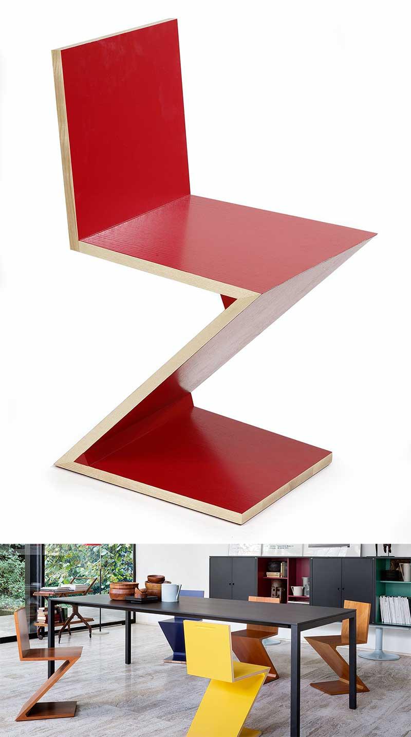 Chaise design Zig Zag