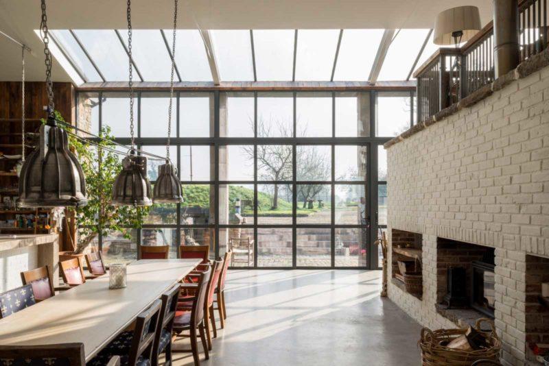 Grande baie vitrée style verrière