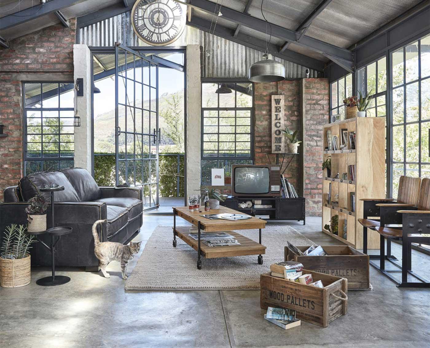 Table basse industrielle : 23 idées déco pour le salon