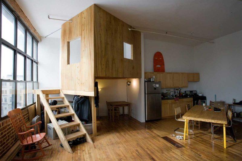 Une cabane dans un loft