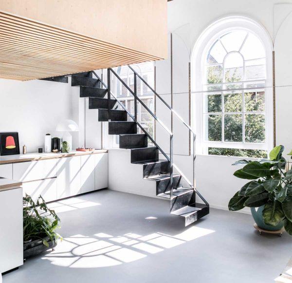 Escalier en acier design