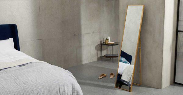 Miroir sur pied design