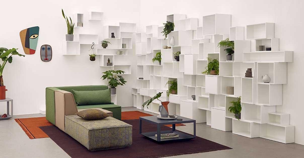 Bibliothèque blanche : 19 étagères au design immaculé