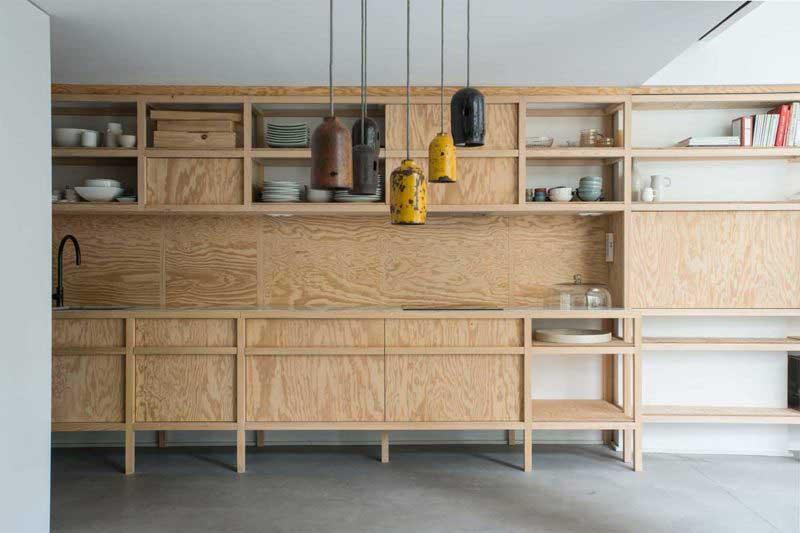 Cuisine contemporaine sur-mesure en bois