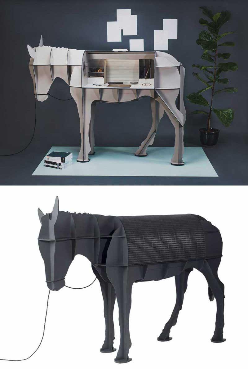 Bureau original en forme d'âne