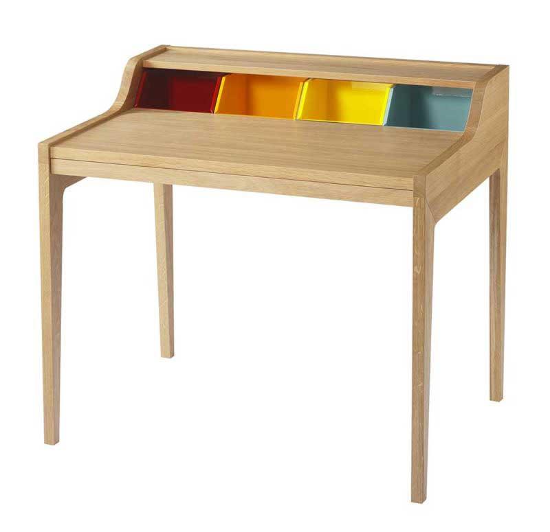 Bureau original bois et couleur