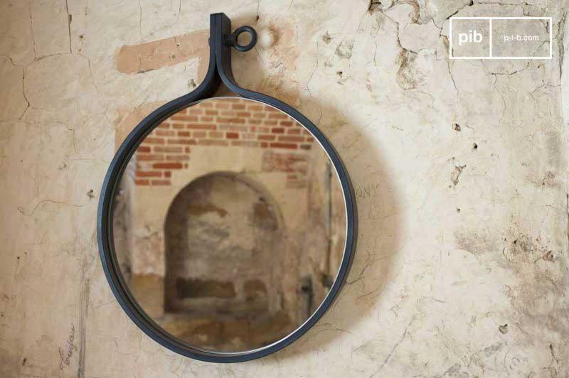 Miroir rond pour déco industrielle