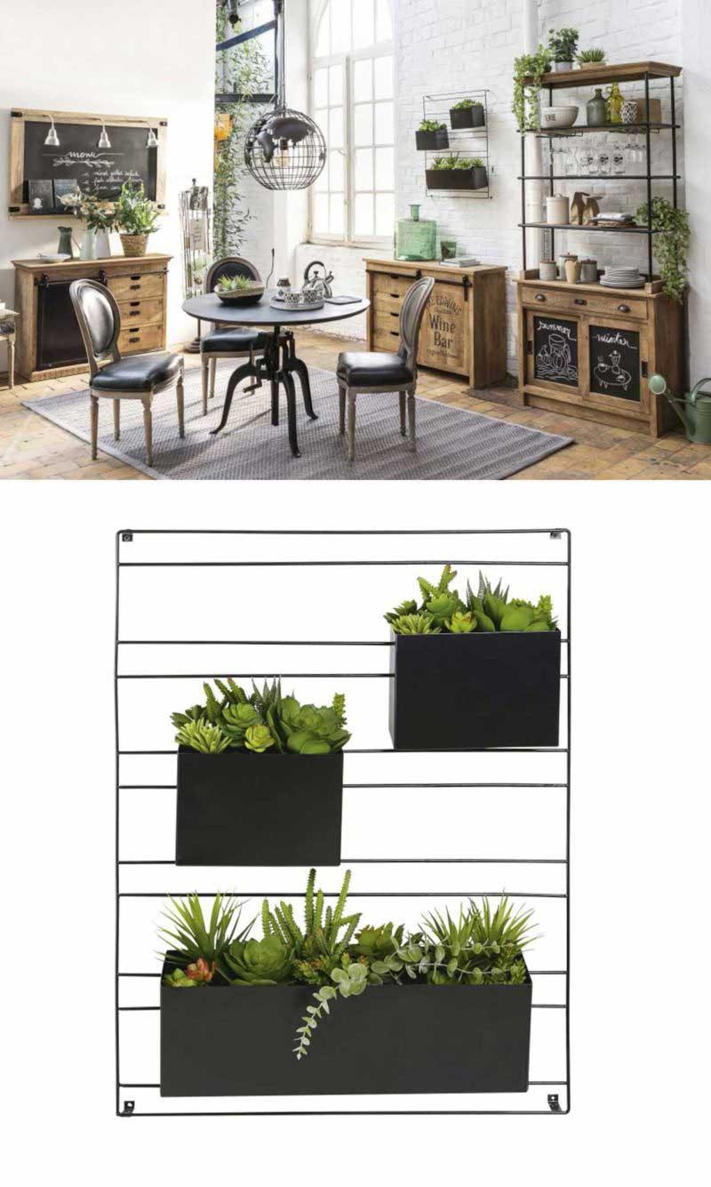 Système d'étagère murale pour plantes