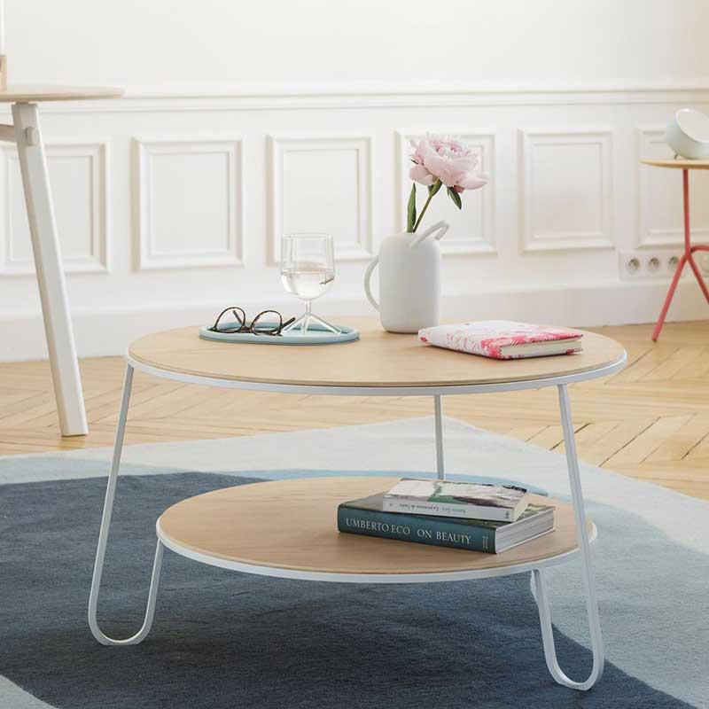 Table basse ronde design par Hartô