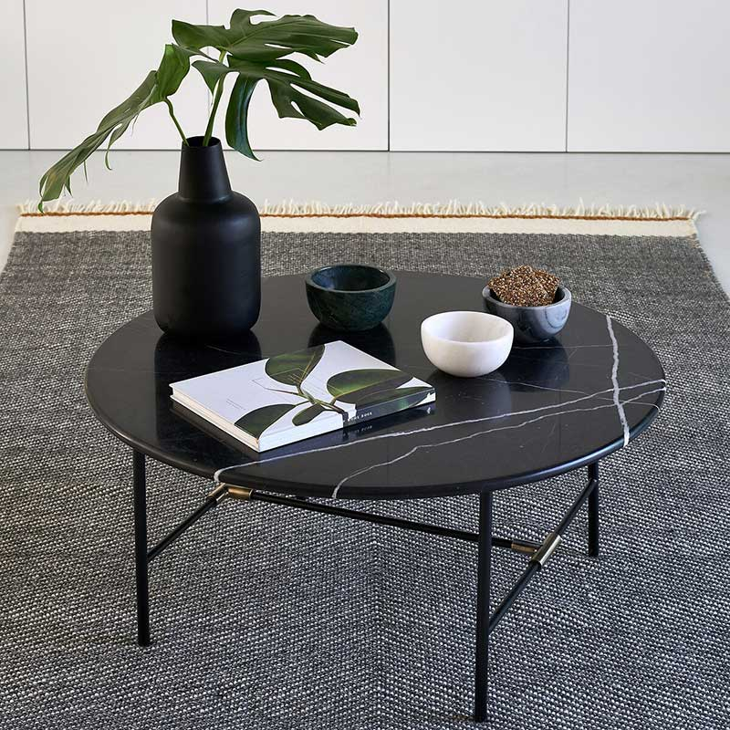 Table basse ronde en marbre