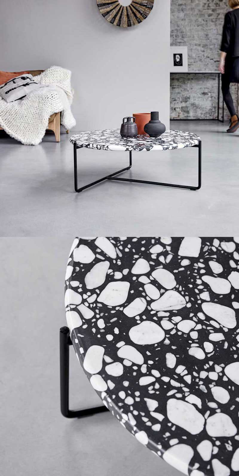 Table basse ronde au design original