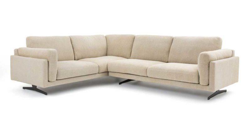 Canapé d'angle en lin