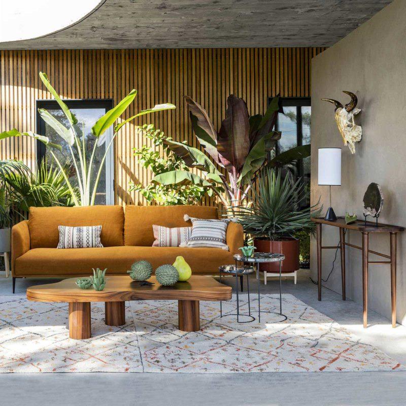 Canapé en lin au design contemporain