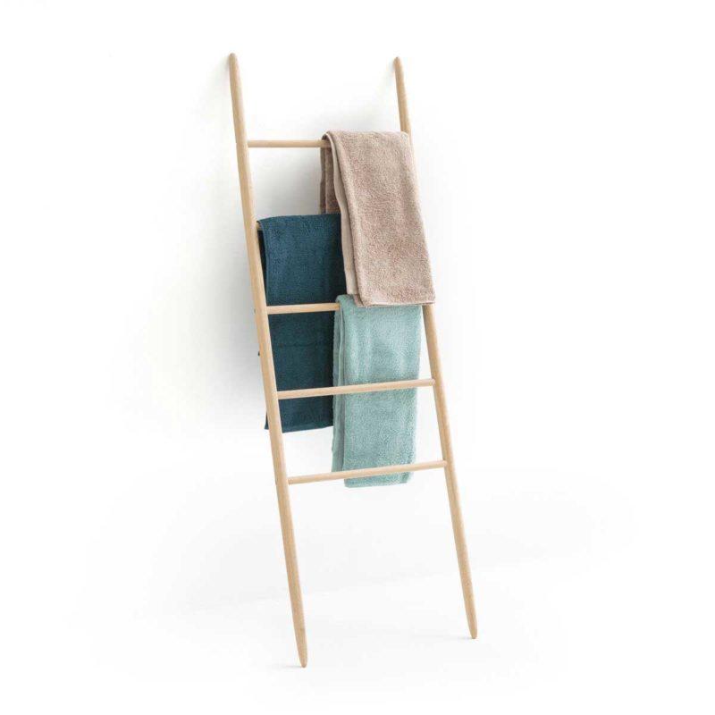 Échelle porte-serviettes en bois
