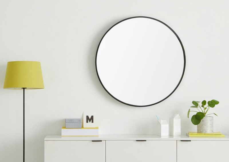 Grand miroir rond design