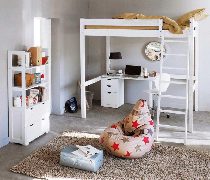Lit mezzanine bureau pour enfant