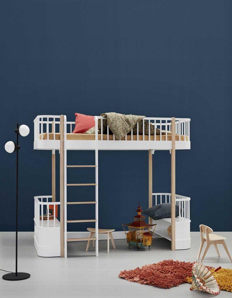 Lit mezzanine haut enfant design