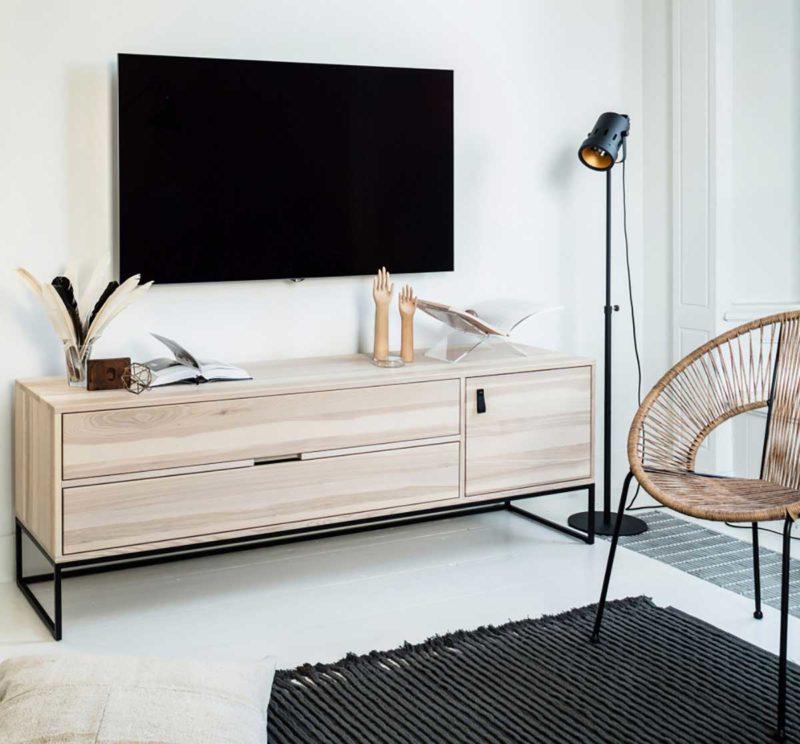 Meuble TV long de 180 cm