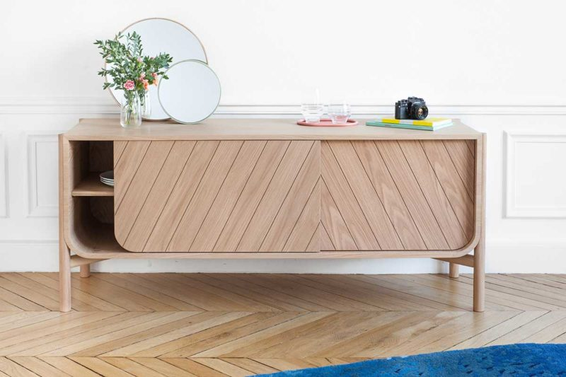 Meuble TV style scandinave moderne en bois