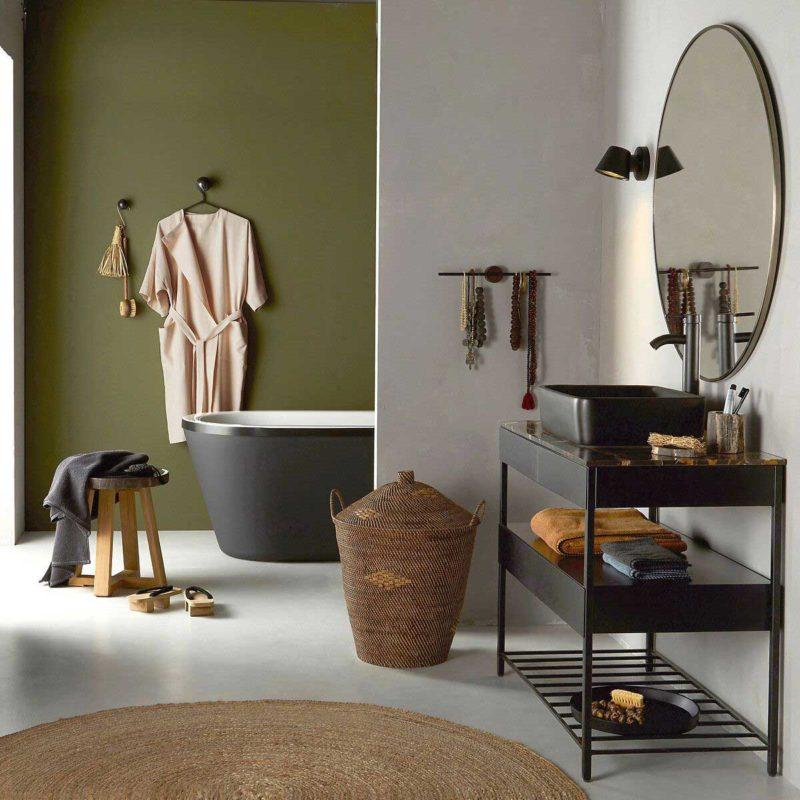 Miroir rond de salle de bains