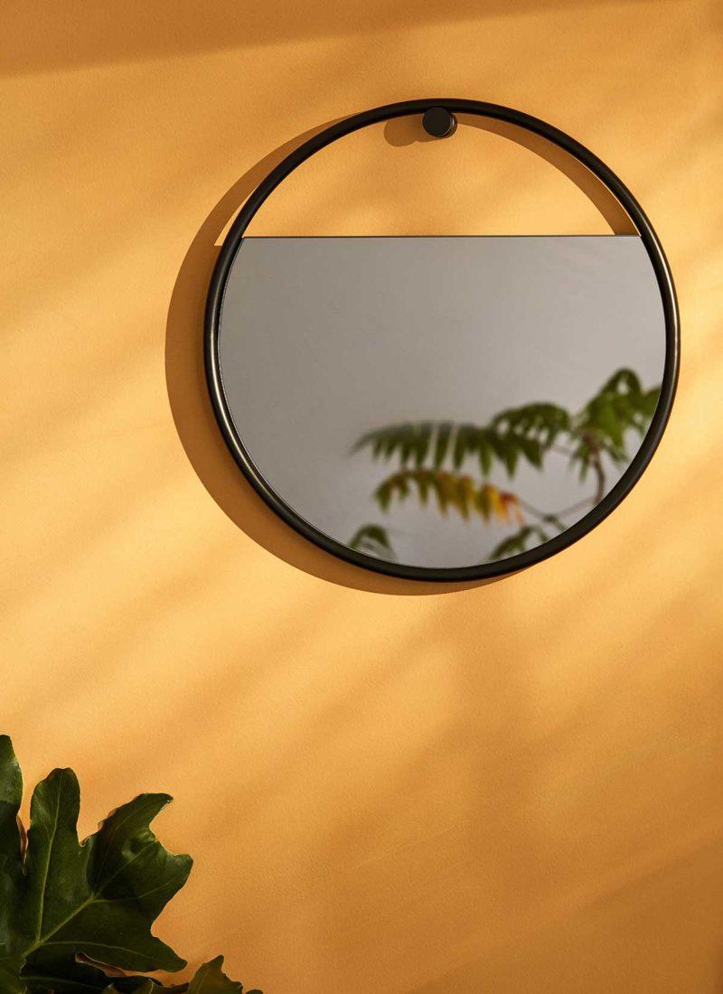 Miroir rond suspendu 40 cm