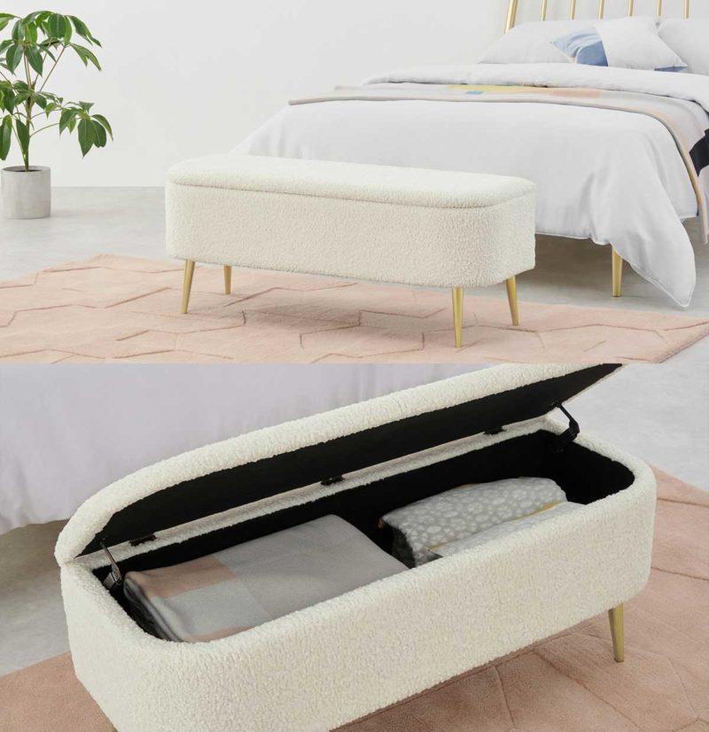 Petit banc coffre de lit