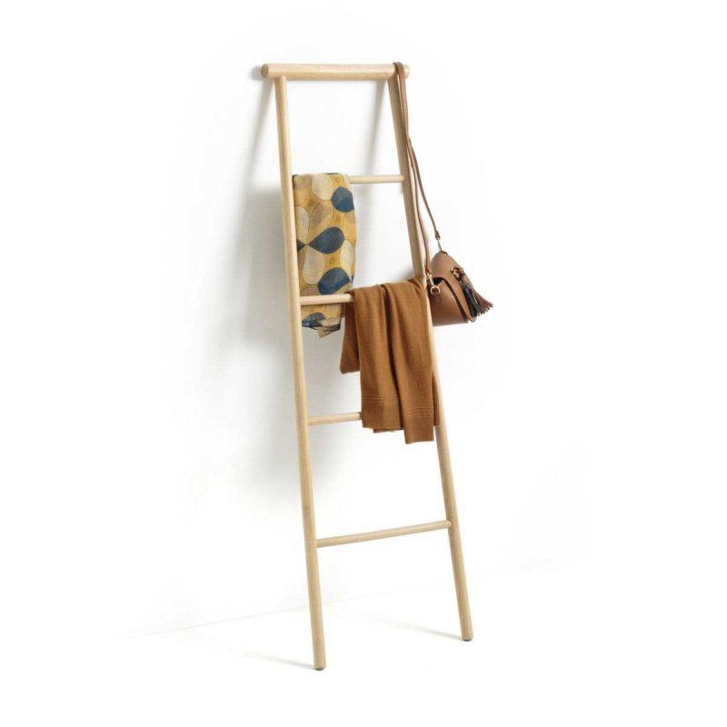 Porte-serviettes échelle en bois