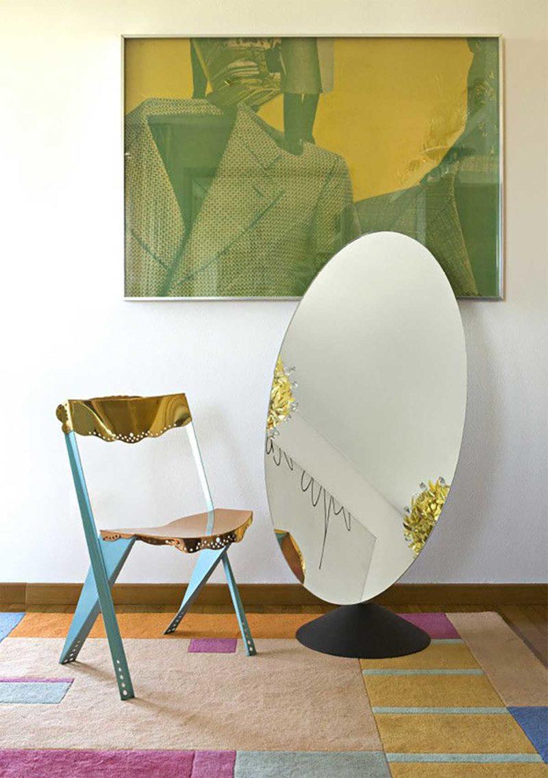 Miroir psyché original qui se transforme en table