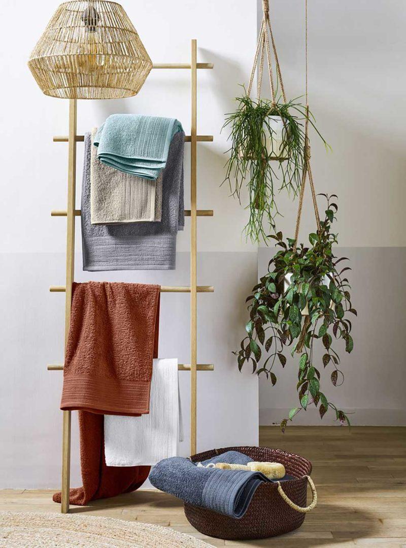 Support à serviettes de toilette en bois