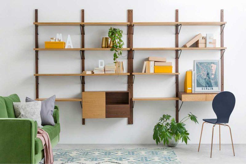 Bibliothèque murale modulable à utiliser en meuble TV