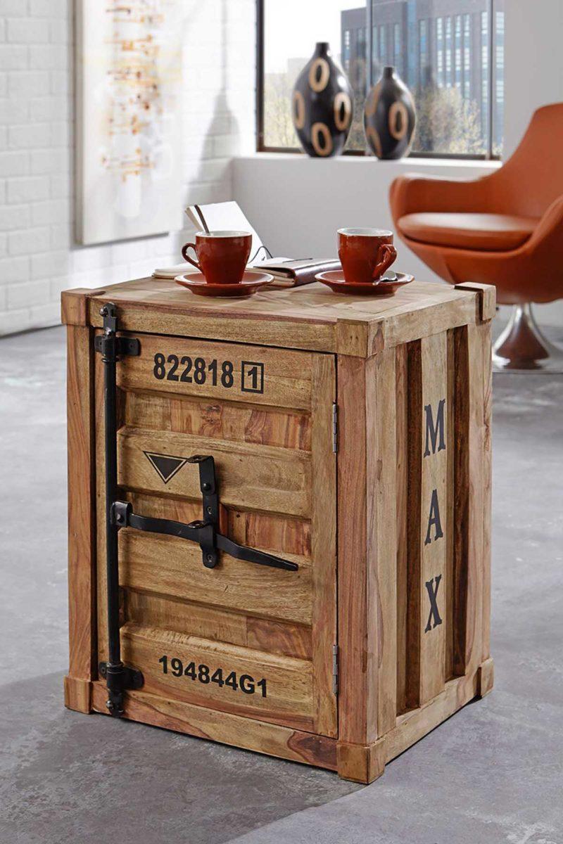 Chevet en bois style container