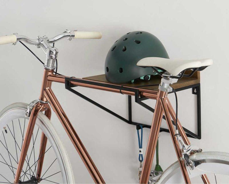 Étagère patère avec porte vélo mural