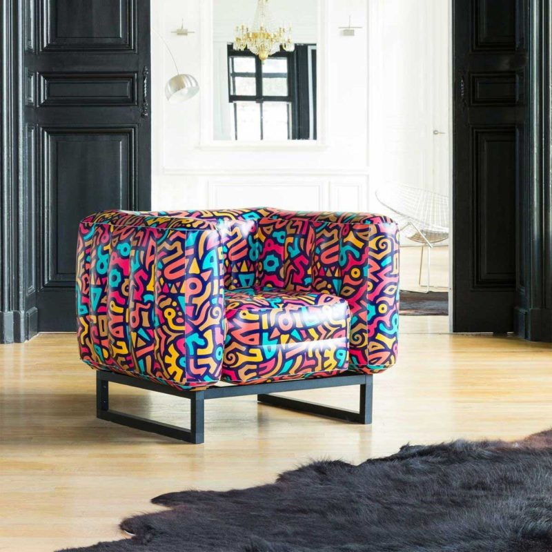 Fauteuil gonflable style urbain