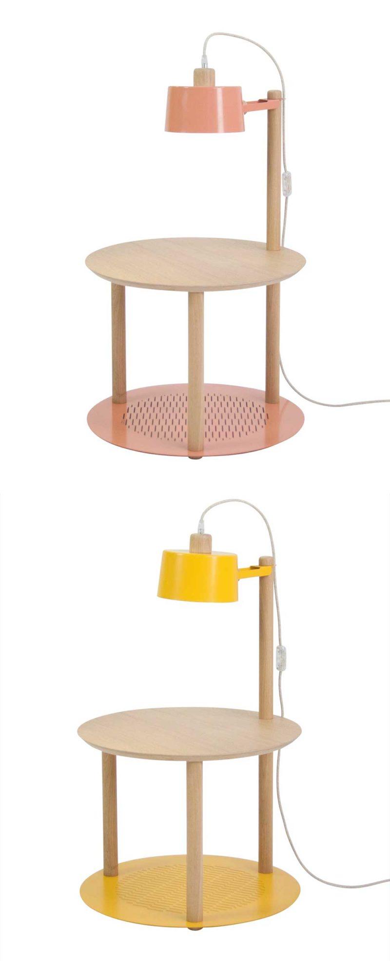 Meuble chevet avec lampe intégrée