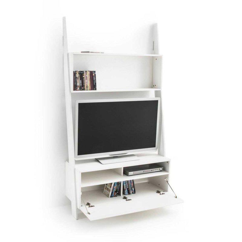 Petite étagère échelle meuble de télévision