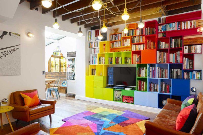 Système modulable pour créer une bibliothèque murale TV