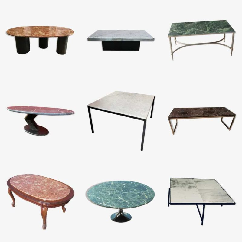 Table basse ancienne en marbre