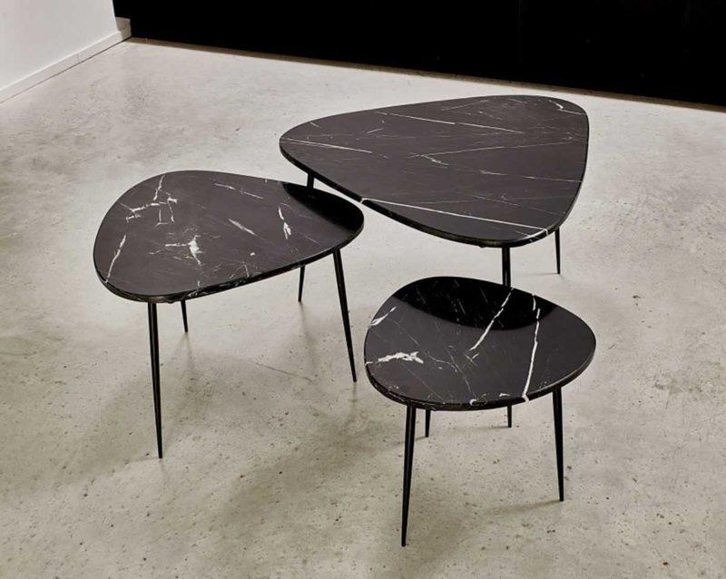 Table basse gigogne en marbre