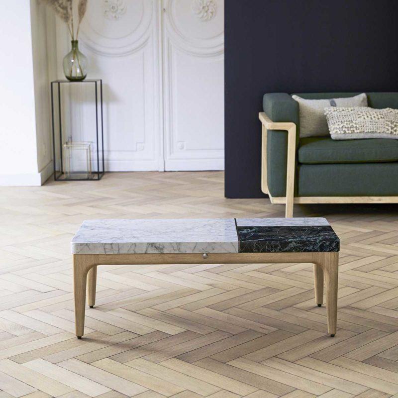 Table basse originale en marbre