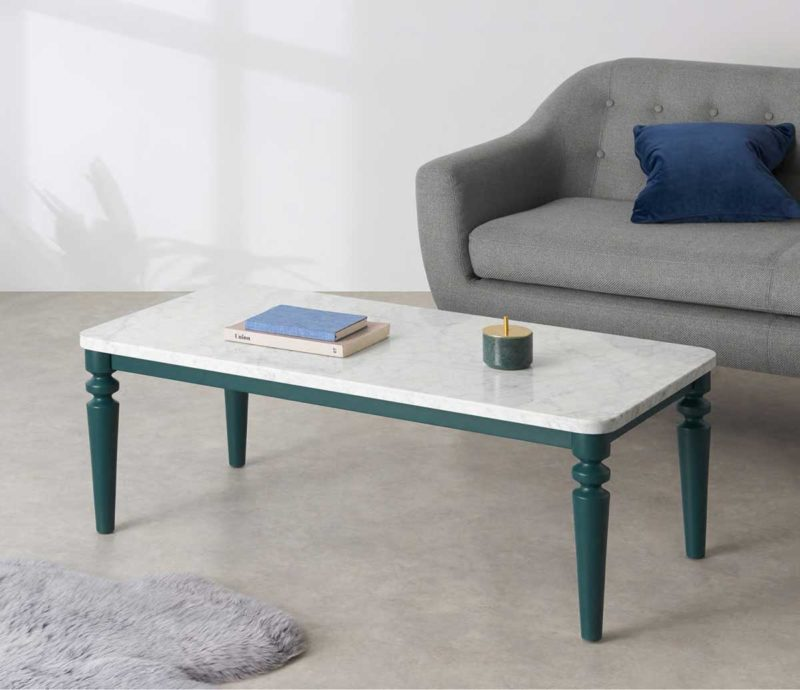 Table basse rectangulaire en marbre